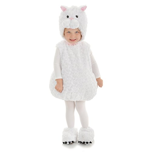 Toddler Garfield Costumes (Underwraps Baby's Cat Belly, White, Large)