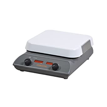 "Corning PC-220 Hot Plate/Stirrer, 110V/60Hz, 25 - 550 Degree C, 60 - 1100 RPM, 4.4"" Length x 5.8"" Width x 7.3"" Height"