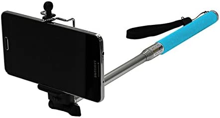 Maximal Power CA GP MONOPOD(BL)+Tripod Holder(L) Telescoping Extendable Pole Handheld Monopod Pole Arm Plus Tripod Mount Adapter for Gopro iPhone Samsung Galaxy (Blue)