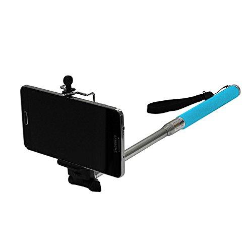 UPC 617215309271, Maximal Power CA GP MONOPOD(BL)+Tripod Holder(L) Telescoping Extendable Pole Handheld Monopod Pole Arm Plus Tripod Mount Adapter for Gopro iPhone Samsung Galaxy (Blue)