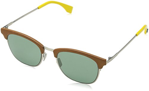 Sunglasses Fendi 228 /S 0VGV Silver Green / QT green lens