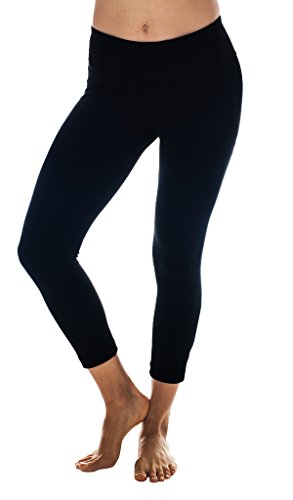 90 Degree By Reflex Yoga Capris - Yoga Capris for Women - Hidden Pocket, large, Black