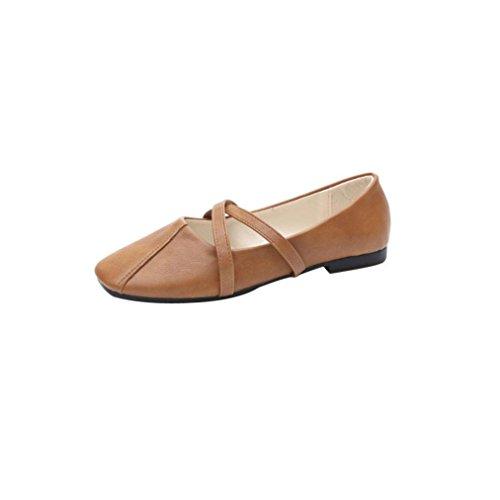 Women's Solid Color Classic Suede Summer Sandals Slipper Flat Flip-flops Beach Slippers Shoes, Indoor & Outdoor (Brown, 35) (Colorful Shoes Dansko)