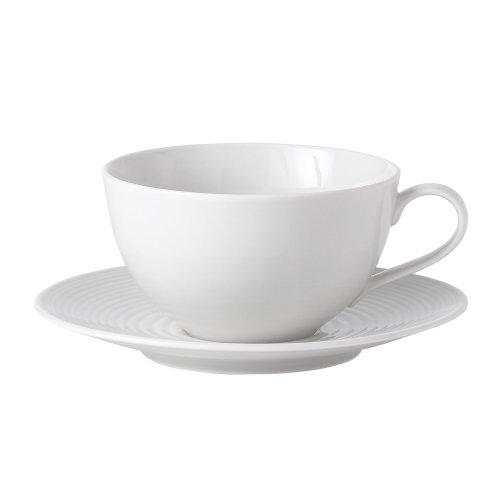 Royal Doulton Gordon Ramsey Maze White Breakfast Cup and Saucer