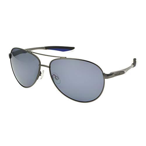 Reebok Men's Rbs 7 Dk Gun BRN No Polarization Aviator Prescription Eyewear Frame, Dark Metal, 61 ()