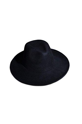 5f4a90575cbc0 ByTheR Men s Fashion Noir Wool Felt Hat Chic Black Urban Fedora
