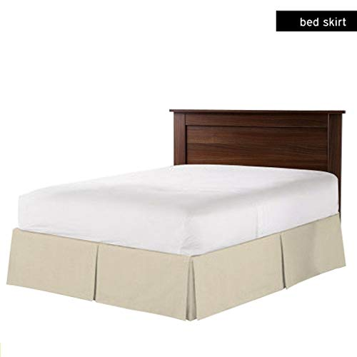 Great Deal! Bedding Experts Multiple Sizes & Colors Pleated Bed Skirt, Solid Fade Wrinkle Resistant ...