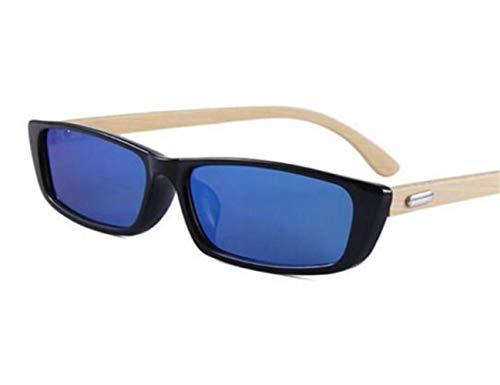 Marco sol Gafas de al Mujeres pequeño Guay viajar UV400 para Gafas Piernas sol madera Black Gafas aire Huyizhi Protección Hombres de Moda de libre 0PqAA