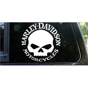 2x 9 harley davidson willie g skull with for Amazon gelbsticker