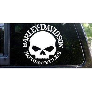 Amazon Com 2x 9 Quot Harley Davidson Willie G Skull With