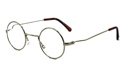 a583b975f3 Funky Feel - John Lennon Style Round Metal Frame Reading Glasses - Gold 2.75