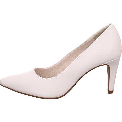 22447, Zapatos de Tacón para Mujer, Blanco (White Matt), 37 EU Tamaris