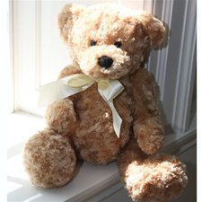 "Beverly Hills Teddy Bear 18"" Honey Colored Curly Bear"