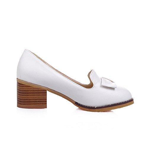 MissSaSa Escarpins à Femmes Chaussures Loisir Boucle Deux Décoration Blanc Noeud rfvrxZ1wq