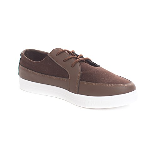 Scarpe Casual Da Uomo Casual Lace Up Platform In Pelle Scamosciata Marrone Mocassino