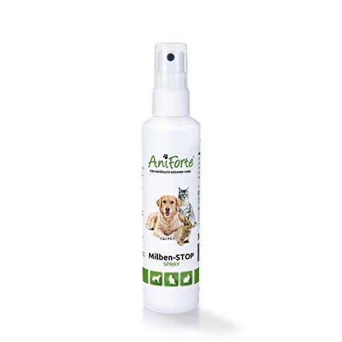 AniForte Milben Stop Spray 100 ml - versch. Größen - Naturprodukt für Hunde, Katzen & Pferde