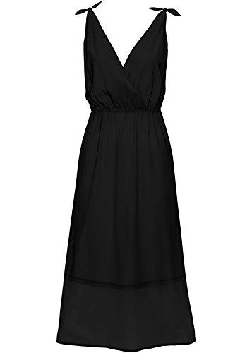 Damen Chiffon-Kleid, 225293 in Schwarz