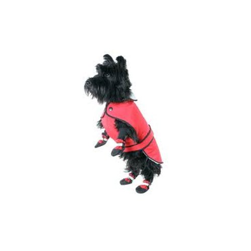 Muttluks 3-Layer Belted Winter Dog Coat, Size 8, Red