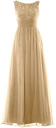 Chiffon Women Formal Evening Dress Party Wedding Gown Champagner Lace Long Prom MACloth xZqd4w4B
