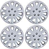 BDK Hubcaps 14 Inch Wheel Protection - OEM Replacement, Easy Installation, Total 4 Pieces (2 front 2 rear)