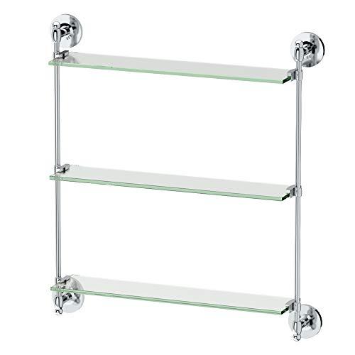 Gatco 1394 Premier 3-Tier Wall Glass Shelf, Chrome