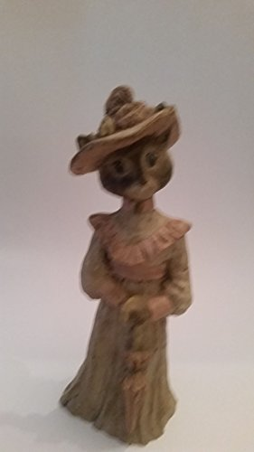 Sarah's Attic Limited Edition: Rare and Unique! Tall Standing Female Cat in Clothes and Hat!!! (Preowned)