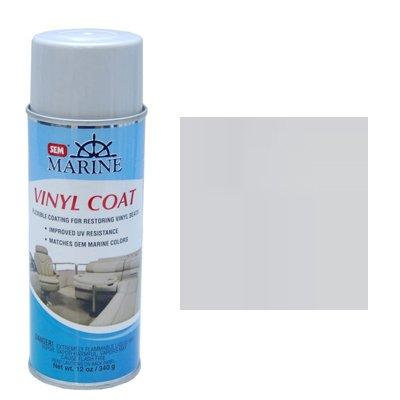 (SEM M25193 Marine Light Grey Vinyl Coat Vinyl and Plastic Repair Coating for Marine Vinyl)