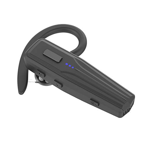 Bluetooth Headset, Updated V5.0 Hands Free Wireless Earpiece for Business/Office/Driving Calling, Support Siri/Google/Cortana Voice Assistant. (240 Hours Standby Time)