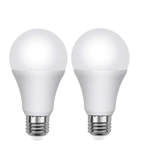 Aukora Dusk to Dawn Light Bulbs - 7W E26/E27 Sensor Lights Bulbs with Auto Switch Outdoor/Indoor LED Lighting Lamp for Porch Front Door Garage Basement (Cool White, 2 Pack)