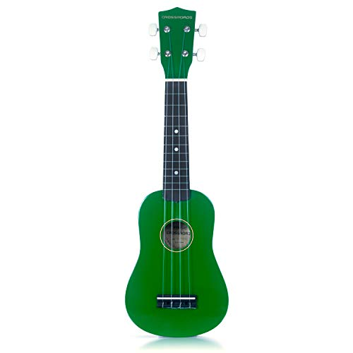 Crossroads Handcrafted Soprano Ukulele Includes Private Lesson and Matching Lightweight Nylon Bag (Natural)