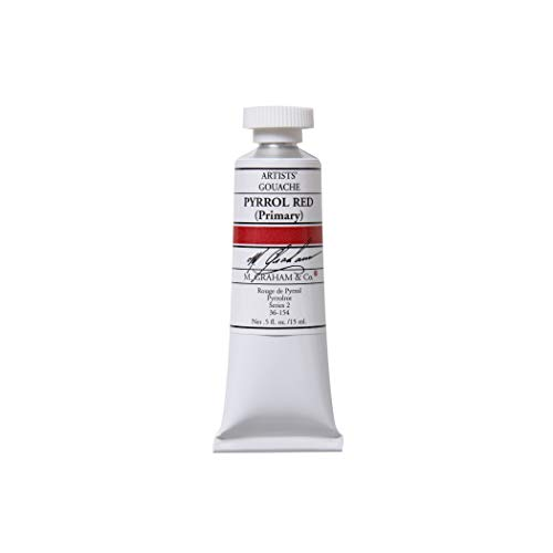 M. Graham 1/2-Ounce Tube Gouache Paint, Pyrrol Red Primary