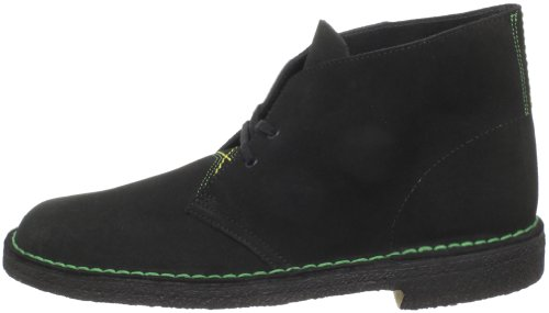 Clarks Men's Desert Boot,Jamaican Black Suede,9.5 M US
