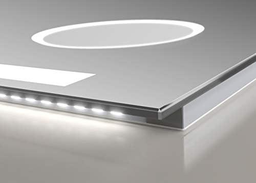 Talos Sun 120x70 cm DEL salle de bains miroir avec éclairage Miroir de salle digital-Montre