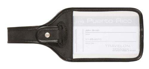 Travelon Cruise Luggage Tag, Black, One Size