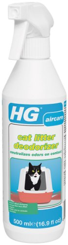 HG Cat Litter Deodorizer – Non-Toxic Odor Eliminator Neutralizes Litter Box Odors on Contact – 16.9 Fluid (Automatic Litter Cleaner)