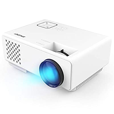 Projector, Spacekey LED Mini Video Projector for Multimedia Home Theater, Supports 1080P, Laptops, Smartphones, Amazon Fire TV Stick & DVDs via HDMI, USB, VGA & AV