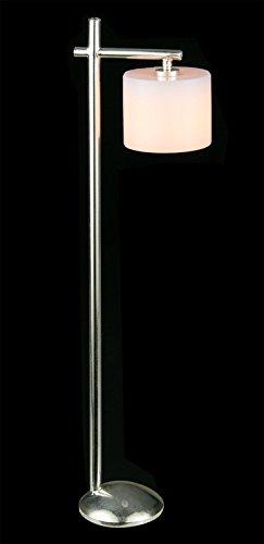 Melody Jane Dollhouse Chrome Modern Floor Light Drum Shade Electric Standard Lamp 12V