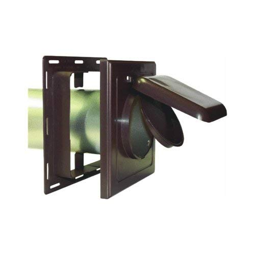 Flush Louver Assembly - P Tec Products J-Block Vent / Wide Mount Vent Brown