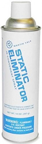 Martin Yale 300 Static Eliminator Cleaner Spray (Pack of 10), Dissipates static electricity to make folding and other paper processing applications worry-free by PRE