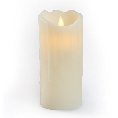 Gideon 7 Inch Flameless LED Candle - Dripping Style - Real ...