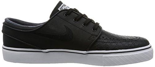 Nike Zoom Stefan Janoski L, Zapatillas de Skateboarding para Hombre Negro / Blanco / Rojo (Black / Black-White-Unvrsty Red-)