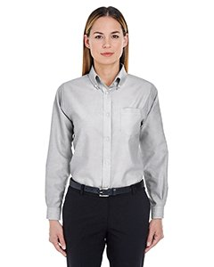 - UltraClub� Ladies' Classic Wrinkle-Free Long-Sleeve Oxford (Charcoal) (X-Large)