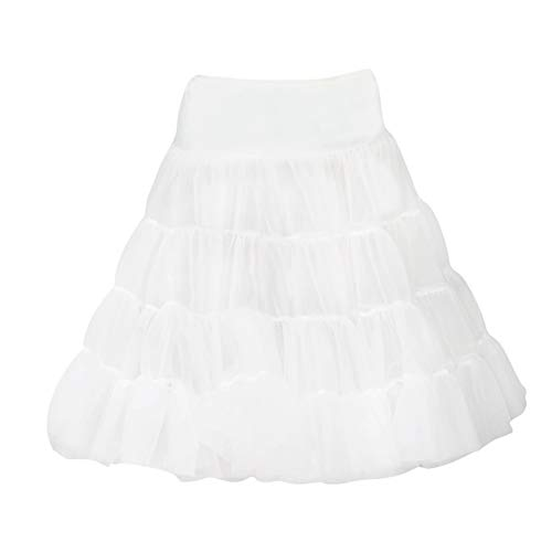 I.C. Collections Little Girls White Bouffant Half Slip Petticoat Tea Length, 4T ()
