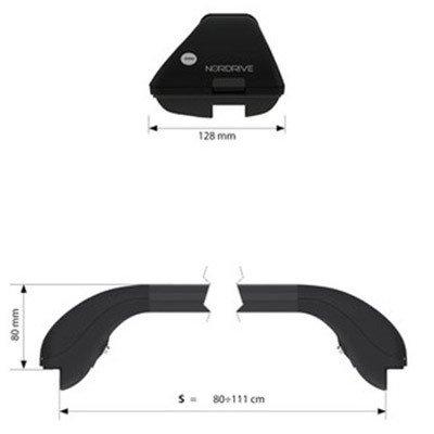 F25 Barre portatutto per BMW X3 dal 11//2010 dotate di serratura antifurto portapacchi Nordrive Snap Steel in acciaio nero