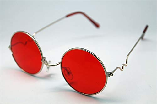 Red Round Sun Glasses Trigun Vampire Cosplay