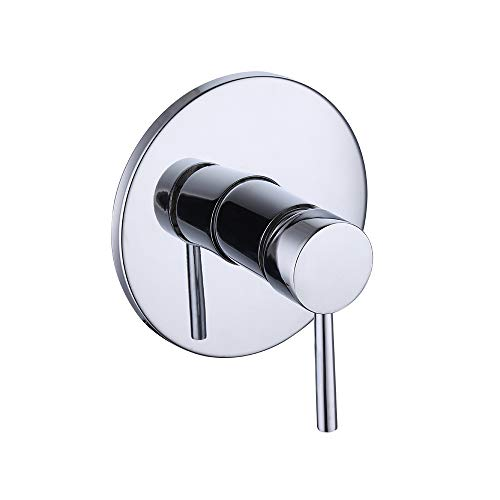 KES BRASS Anti-Scald Pressure Balance Rough-in Valve with Trim (handle and face plate) Set Chrome, ()