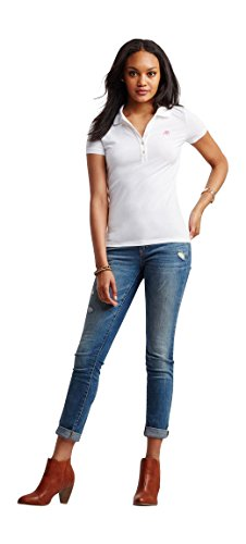 Aeropostale Womens Pique Shirt White