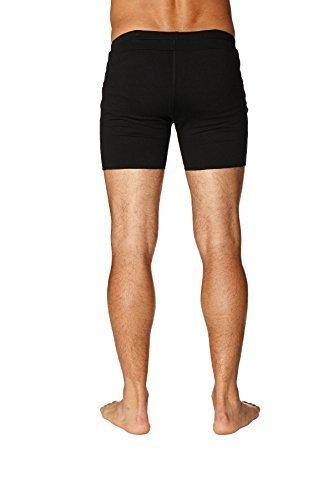 4-rth Mens Transition Yoga Shorts (Extra Small, Solid Black)