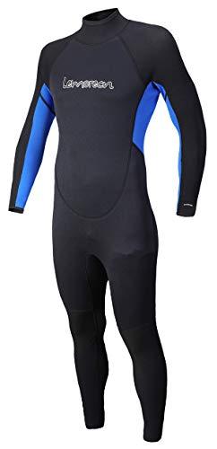 Lemorecn Mens Wetsuits Jumpsuit Neoprene 3/2mm and 5/4mm Full Body Diving Suit for Men