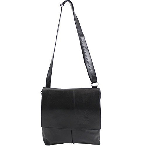 Black Women�s Vera Vera Pelle Women�s Pelle Bag Vera Messenger Beige Plain Beige Plain Black Bag Messenger vZ4rv